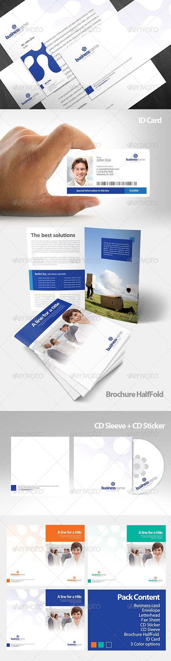 Katra Corporate Identity Pack - Stationery Print Templates