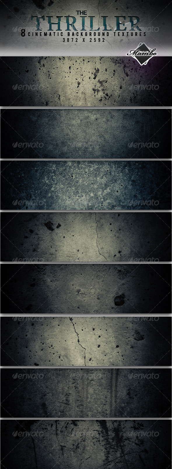 The thriller - cinematic background textures - Industrial / Grunge Textures
