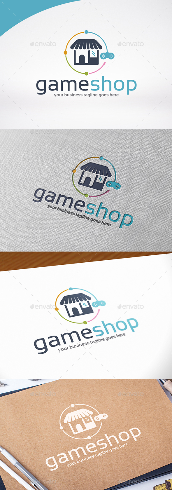 Game Shop Logo Template