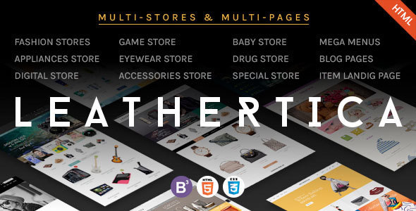 Leather - CMS & eCommerce Responsive HTML Template