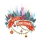 Merry Christmas Banner Withhouses And Northern