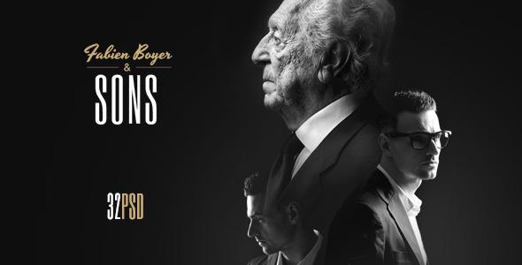 Fabien Boyer & Sons PSD Template