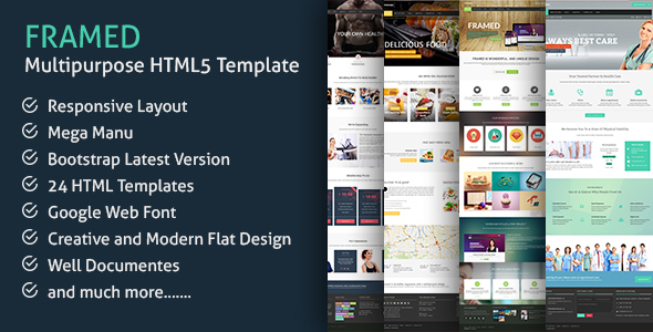 Framed - Responsive Multi-purpose HTML5 Template