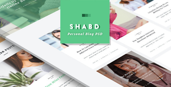 Shabd - Personal Blog PSD Template