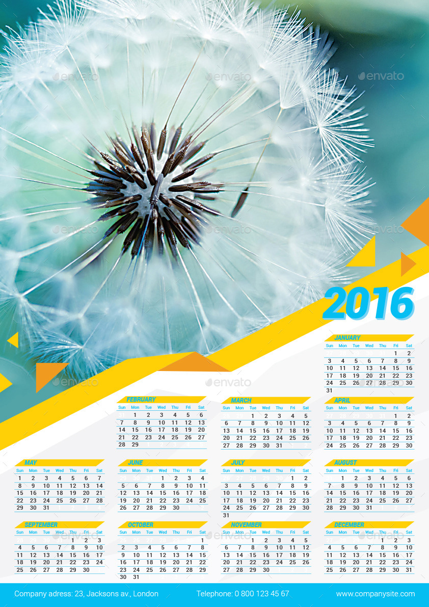 Calendar Poster Template : Poster calendar template by design you graphicriver
