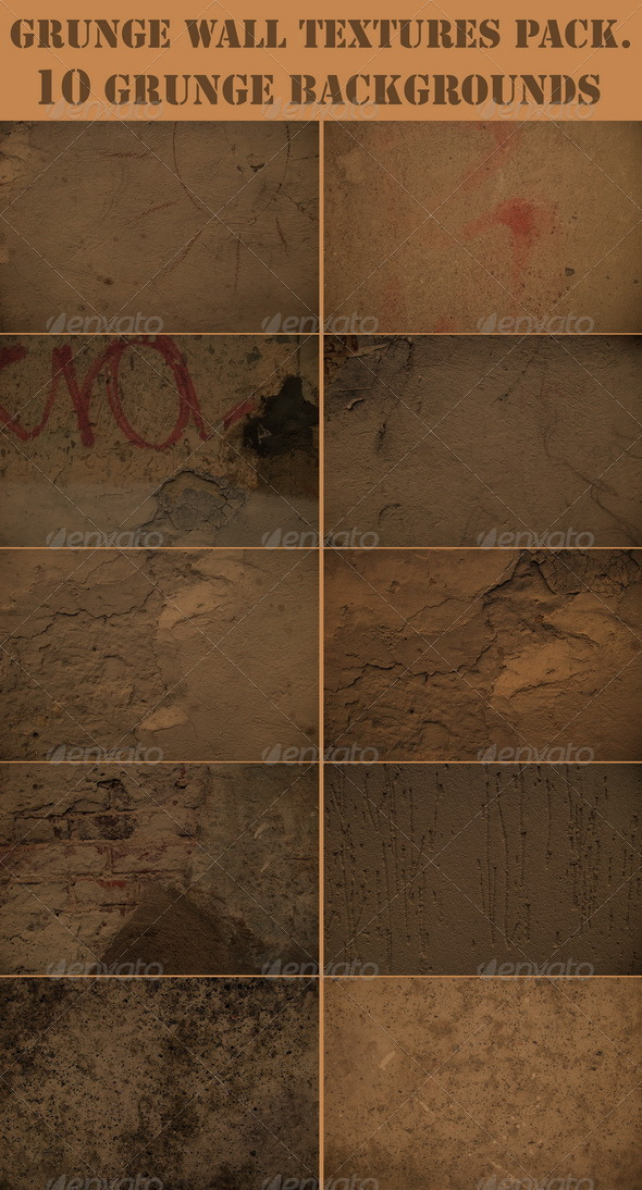 Grunge wall textures pack - Concrete Textures