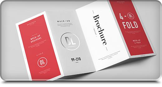 Folding Brochure Mock-ups