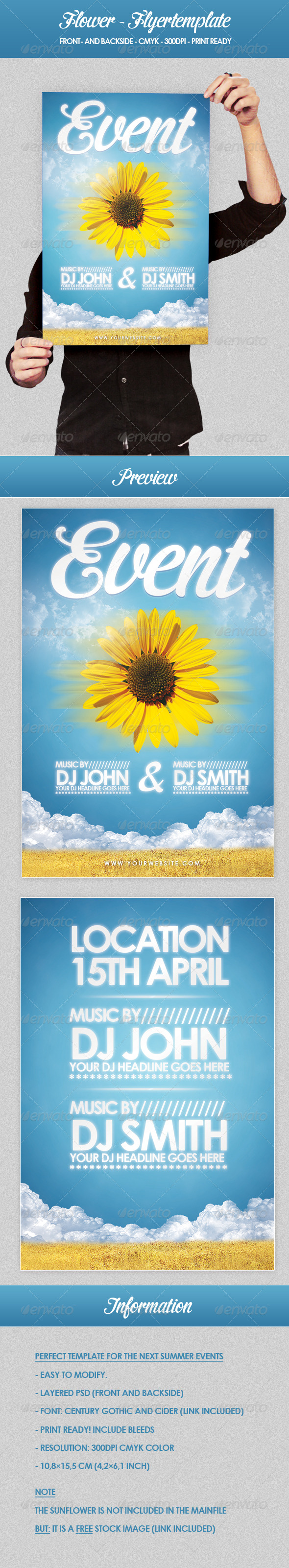 GraphicRiver Flower Flyer Template 160395