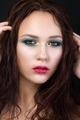 Beauty portrait of young girl with fashion make-up