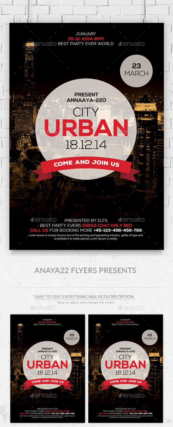 Urban City Flyer Template