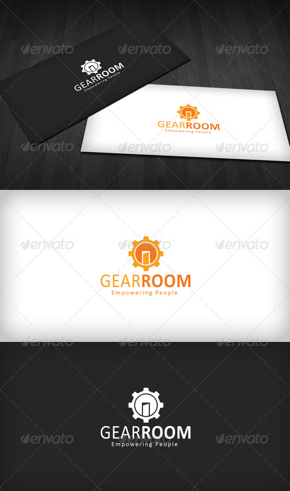 Gear Room Logo - Vector Abstract