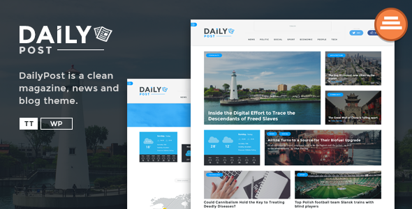 Daily Post - News Magazine and Blog Template