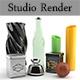 Realistic Vray Studio Render Scene