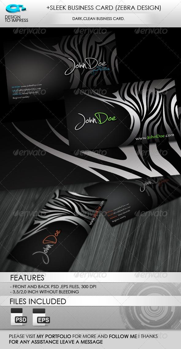 +Sleek Business Card (Zebra Design) - Creative Business Cards