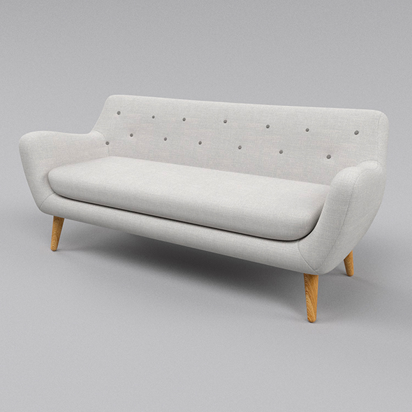 White sofa  - 3DOcean Item for Sale