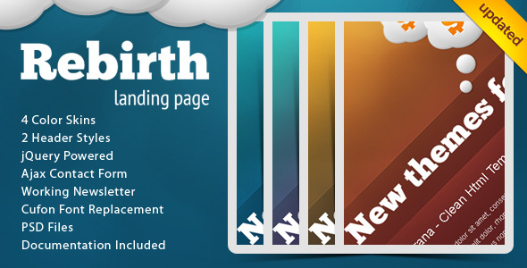 Rebirth Landing Page - Creative Landing Pages