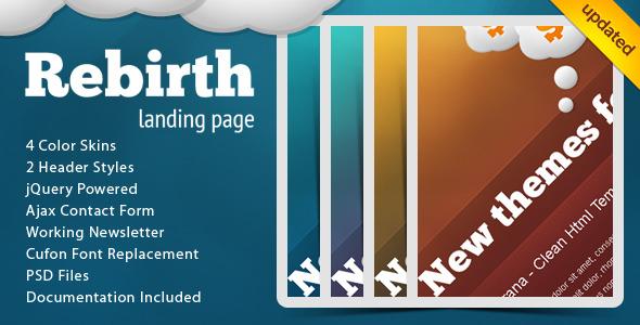 ThemeForest Rebirth Landing Page 159708