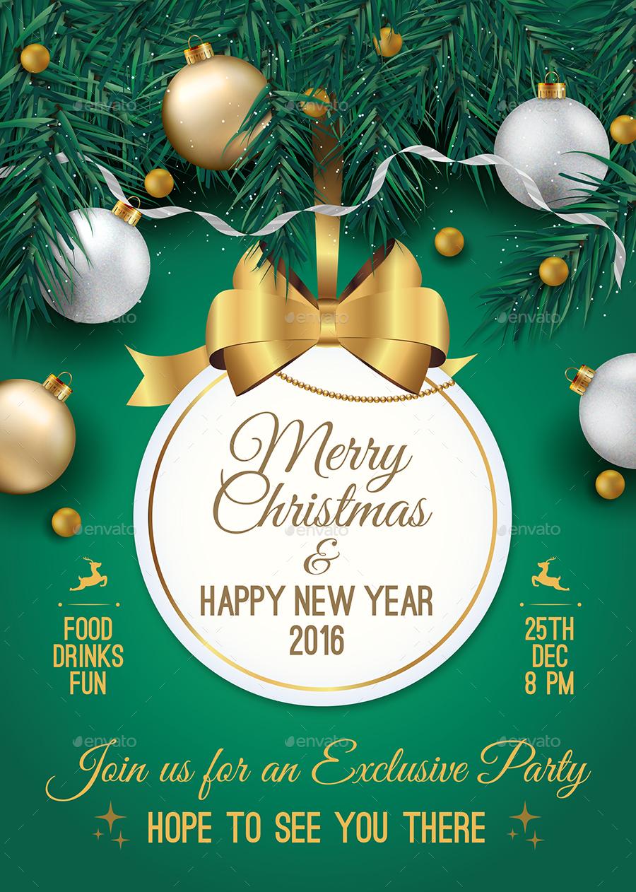 christmas party invitation by iuliatatar graphicriver christmas party invitation gold a4 size jpg