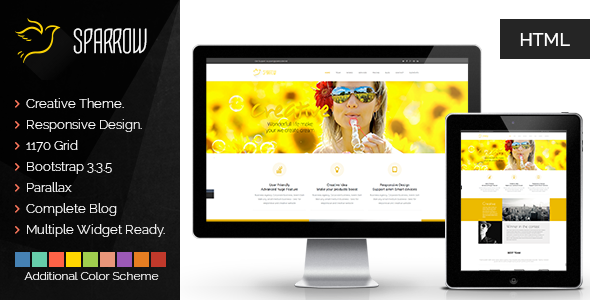 Sparrow | The Multi-Purpose HTML5 Template