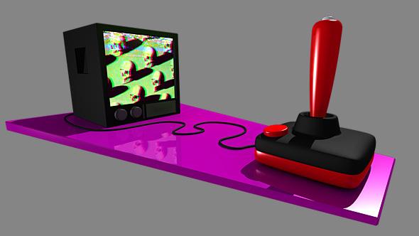 Retro Joystick - 3DOcean Item for Sale