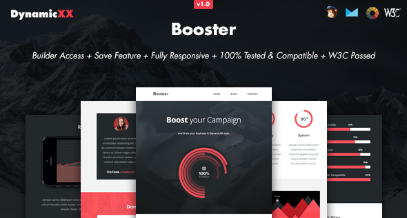 Booster - Responsive Email + Online Builder