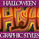 Set of Halloween Graphic Styles for Design