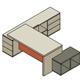 Isometric Workstation Table - Illustration