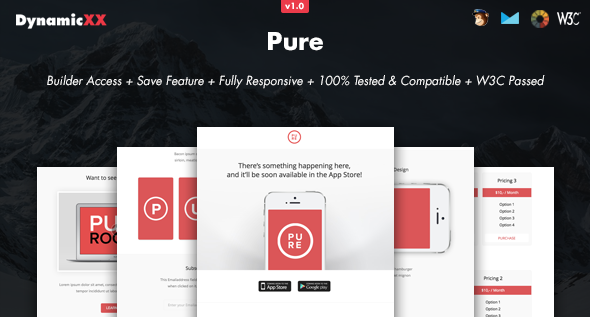 Download Pure - Responsive Email + Online Template Builder nulled download
