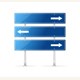 Blank Traffic Sign with White Arrow Header. Vector