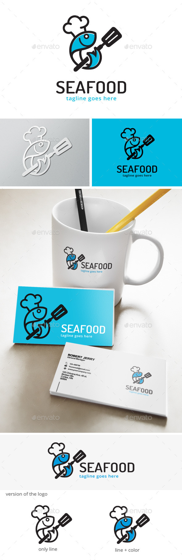 Sea Food - Fish Logo