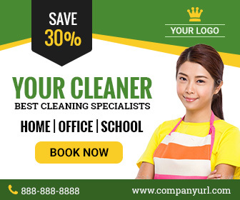 GWD | Cleaning Service Ad - 001 by themesloud | CodeCanyon