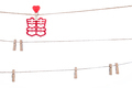 clip on a  twine , hanging chinese wedding auspicious word, Cong