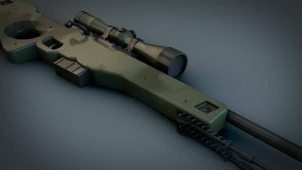 AWP Sniper rifle (CS GO) - 3DOcean Item for Sale
