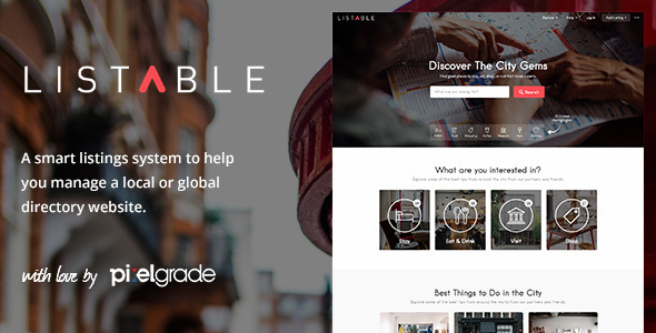 LISTABLE – A Friendly Directory WordPress Theme