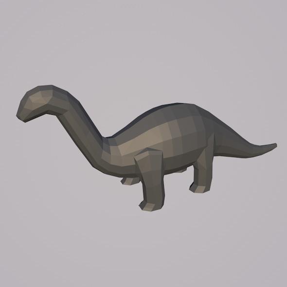 Low-poly Brachiosaur Mesh - 3DOcean Item for Sale
