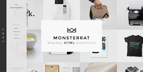 monsterrat minimal html portfolio template