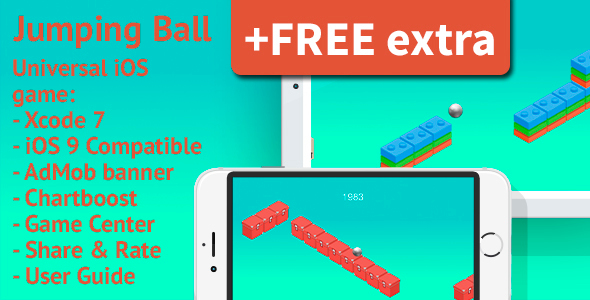 Jumping Ball - AdMob & Chartboost + FREE extra - CodeCanyon Item for Sale
