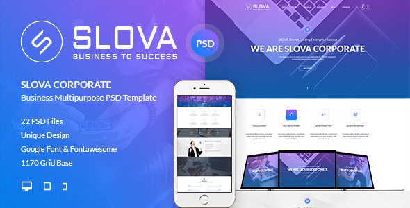 Slova - Corporate PSD Template