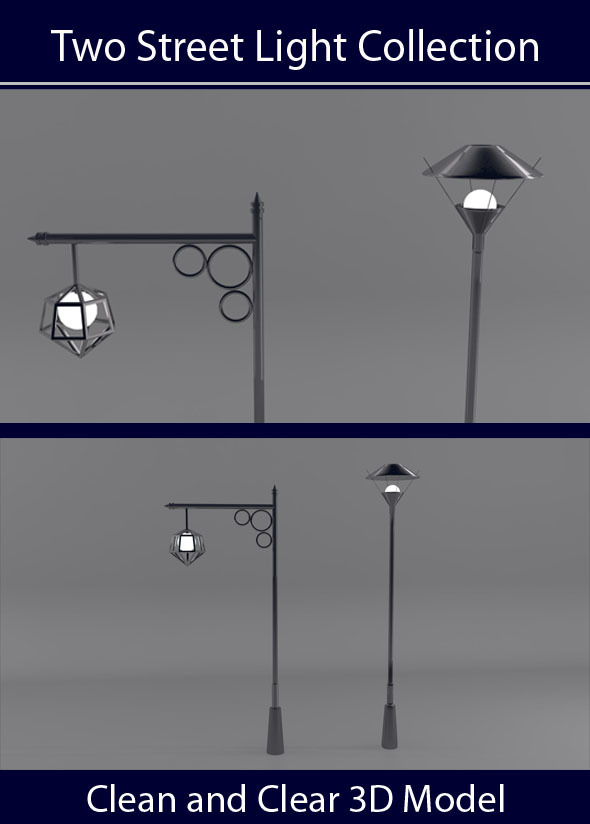 Two Street light Collection - 3DOcean Item for Sale