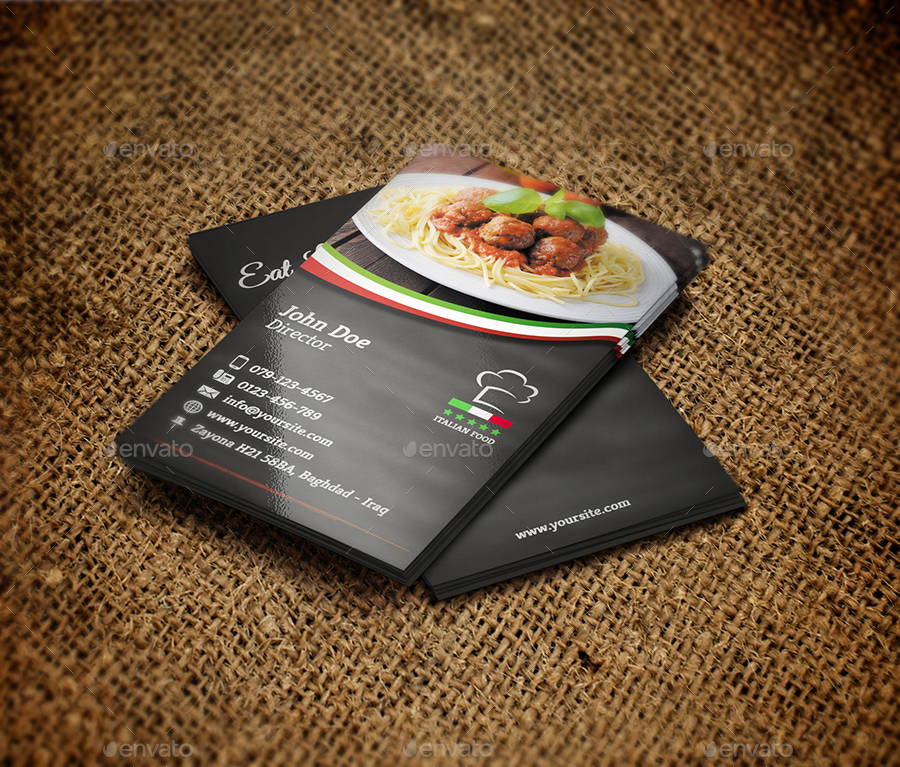 italian restaurant business card templateowpictures