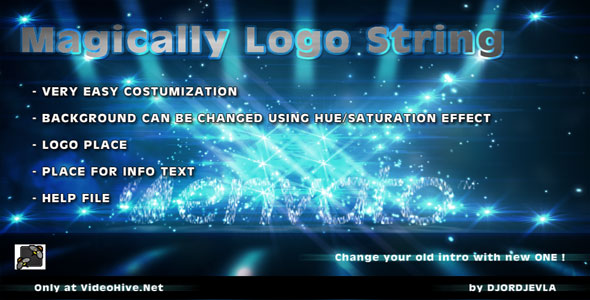 After Effects Project - VideoHive Magically Logo String 160663
