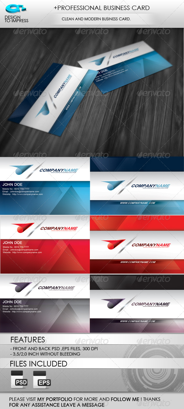 GraphicRiver &Professional Business Card 160691