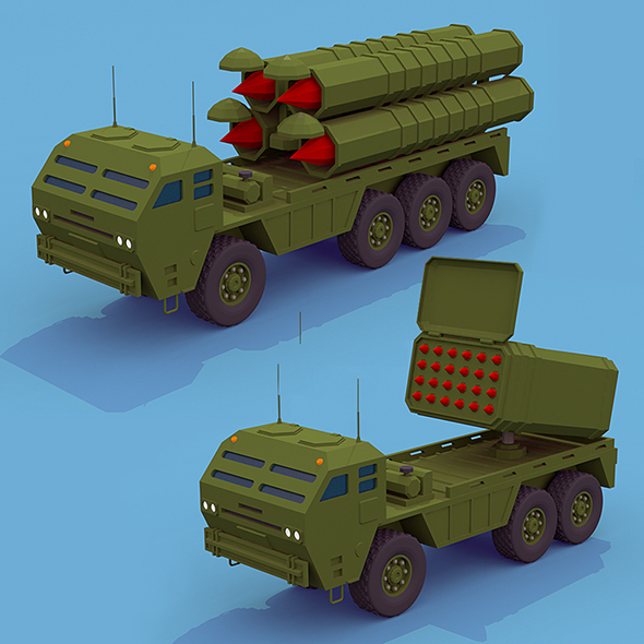 Army rocket trucks  - 3DOcean Item for Sale