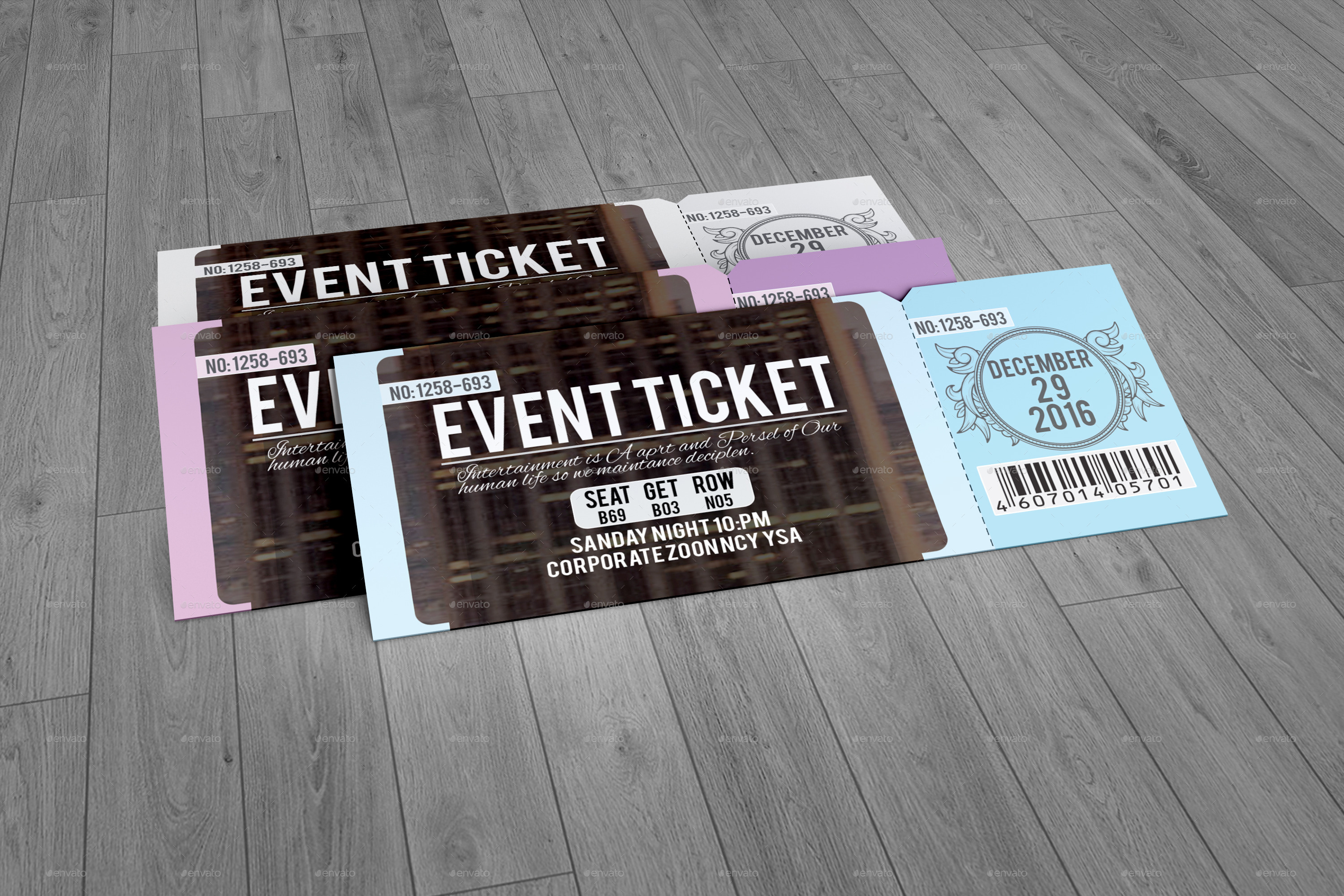 An Error Occurred.  How To Design A Ticket For An Event