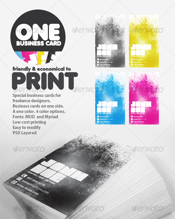 GraphicRiver ONE Business Cards 53382