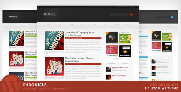 Chronicle - Blueprint for the Community - Blog / Magazine WordPress