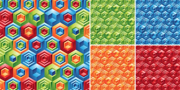 Graphic River Cubes Backgrounds Vectors -  Decorative  Patterns 53388