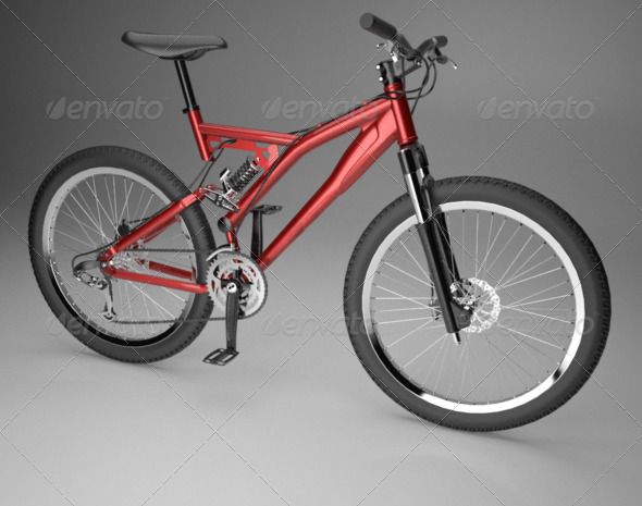 Working Full Suspension Mountain Bike - 3DOcean Item for Sale