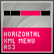 AS3 XML MENU [ HORIZONTAL ] - ActiveDen Item for Sale