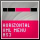AS3 XML MENU [ HORIZONTAL ] - ActiveDen Item for Sale